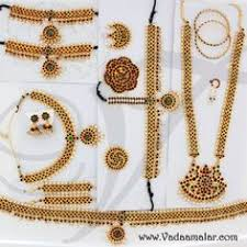 temple jewellery necklace with jhumka earring set also
