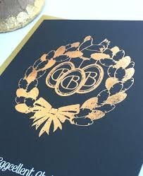 gold foiled christmas cards u2014 retro press wedding stationery