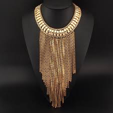 chunky necklace pendants images Manilai fashion maxi tassels necklaces bib collar chunky choker jpg