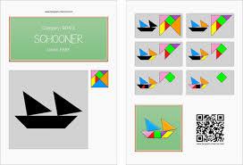 tangram ship printable tangram worksheet 3 providing teachers