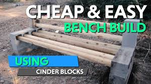 Diy Patio Furniture Cinder Blocks How To Built This Diy Cinder Block Bench For Our Future Homestead
