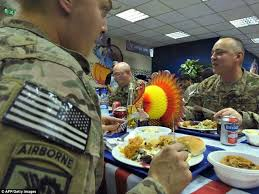 thanksgiving meal provides u s troops moment s respite from anti