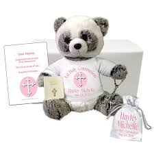 communion gift communion panda gift set personalized 11 ping panda