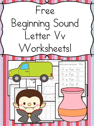 beginning sounds letter v worksheets free and fun