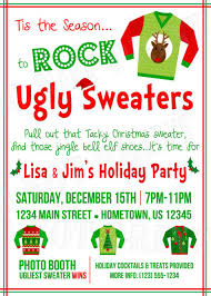 sweater invitation wording happy holidays