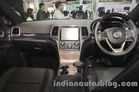 2017 jeep grand cherokee dashboard jeep grand cherokee dashboard at auto expo 2016 indian autos blog