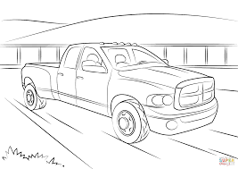 cummins truck white dodge ram 5500 coloring page free printable coloring pages