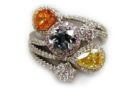 color diamond rings images Multi colored diamond rings wedding promise diamond jpg