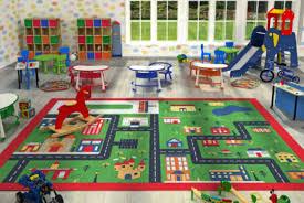 Kids Playroom Rug Funky Buys Kids Childrens Green Town 100 X 133cm Rug Mat In