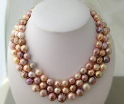colored pearls necklace images The evolving shapes of freshwater pearls part 2 bead nucleated pearls jpg