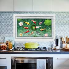 popular live gold fish buy cheap live gold fish lots from china new removable 3d gold fish pond living room wall sticker kids home decor decal high quality