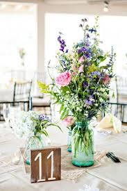 Long Vase Centerpieces by Best 25 Wildflower Centerpieces Ideas Only On Pinterest Jam Jar