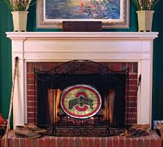 ohio state university fireplace screen buy ohio state university