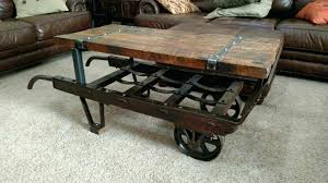 railroad cart coffee table photo gallery of railroad cart coffee table viewing 14 of 15 photos