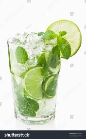 mojito cocktail vodka mojitos cocktail lime ice mint delicious stock photo 80330569