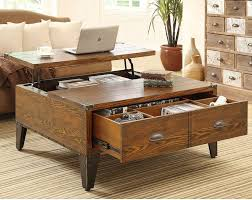 Storage Side Table Fancy Coffee Table With Drawers Best Images About Tables Regard To