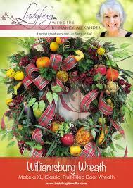 williamsburg wreath fruit style ladybug wreaths by