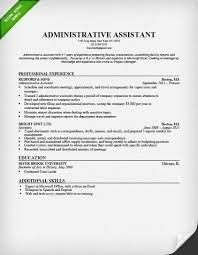 Sle Resume For An Administrative Assistant Entry Level Sle Resume Admin Templates Franklinfire Co