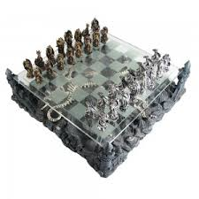 furniture awesome dragon chess set glass board polymer with