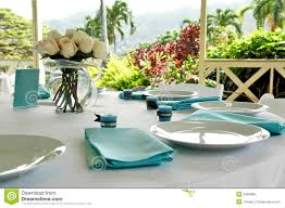 Informal Table Setting by Blue U0026 Brown Table Setting Royalty Free Stock Photo Image 2489985