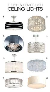 Clearly Modern Semi Flush Ceiling Light Ceiling Lights Clearly Modern Semi Flush Ceiling Light And