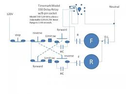 3 phase motor reversing with delay and limit switches