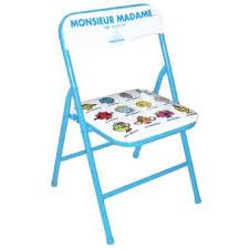 chaise de pliante chaise pliante enfant monsieur madame tropico achat prix fnac