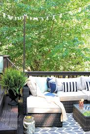 How To Build A Awning Over A Deck How To Hang Outdoor String Lights The Deck Diaries Part 3