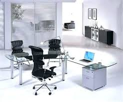 Modern Glass Office Desks Modern Glass Office Desks Evercurious Me