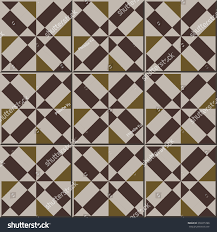 vintage seamless wall tiles brown square stock vector 358275788