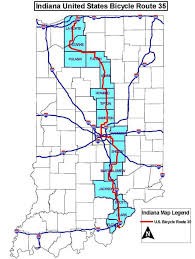 indiana map us three u s bicycle routes to cross indiana promoting tourism and