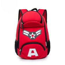 cool kids backpack printing captain america backpack
