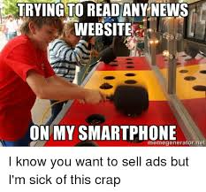 Meme Generator Website - trying to read any news website on my smartphone memegeneratornet i