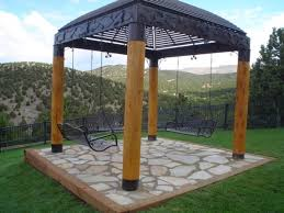 Metal Pergolas With Canopy by Patio Gazebo Design With Metal And Wood Customised Gazebos Aarons