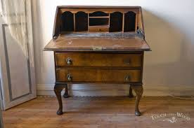 Shabby Chic Secretary Desk by Antique Shabby Chic Bureau No 12 1930s Touch The Wood