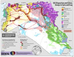 Syria War Map by U S Army Map Isis Disposition And Ethnic Groups In Syria And