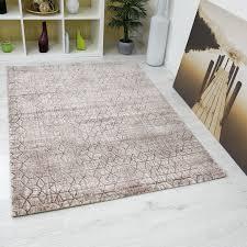 teppich für wohnzimmer wohnzimmer teppich rautenmuster braun beige 3d optik tt022