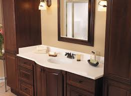 Brushed Bronze Faucets Magnificent Granite Top Bathroom Vanity Cabinet Using White