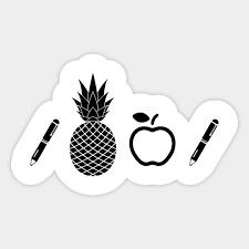 Ananas Pineapple Meme - pen pineapple apple pen meme sticker teepublic