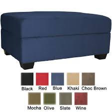 furniture blue storage ottoman coffee table with ottomans