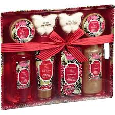buy aromanice pomegranate noir bath gift set 8 pc in cheap price