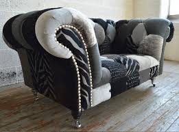 Patchwork Chesterfield - chesterfield armchair chrome fabric on casters walton