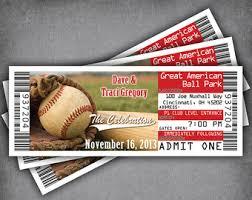baseball wedding invitations large baseball wedding invitation tickets sports ticket