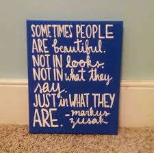 markus zusak handpainted canvas quote art book thief wall