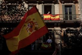 Barcelona Spain Flag The Latest Lawyer Says No Decision By Puigdemont On Asylum