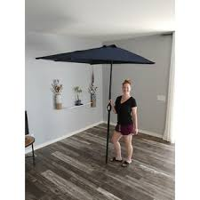 Patio Half Umbrella Navy Blue 9 Foot Patio Half Umbrella Free Shipping Today