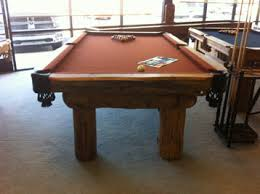 Tournament Choice Pool Table by Montana Log Pol Pool Table Custom Options Available