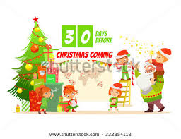 merry christmas design conceptcute cartoon santa stock vector