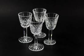 Hughes Cornflower Crystal Cordials Cross And Olive Cordial Liqueur Glasses 2 Cordial And Products