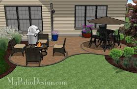 Patio Layouts by Curved Patio For U201cl U201d Shaped Home Outdoor Fireplaces U0026 Fire Pits